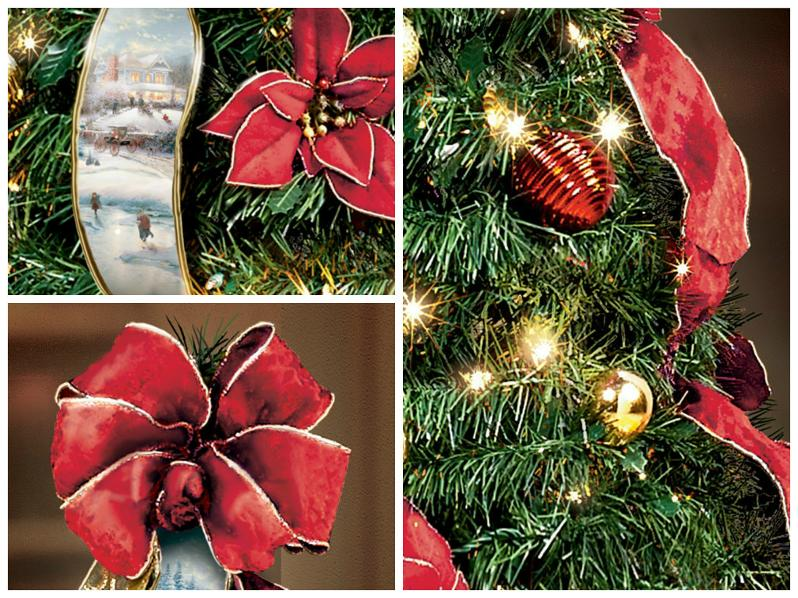 thomas kinkade christmas tree - Pull Up Christmas Trees Decorated